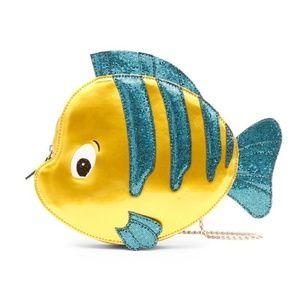 NWT Danielle Nicole Disney Mermaid Flounder Purse